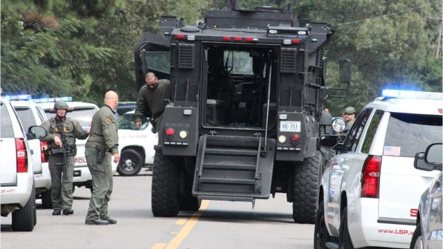 A felon who had violated his probation in Missouri thought Avoyelles Parish Sheriff's deputies were at a Ruby-area home Wednesday morning for him and drew a gun on them, causing a deputy to fire his gun. That led to a standoff of about two hours that ended when the man surrendered.