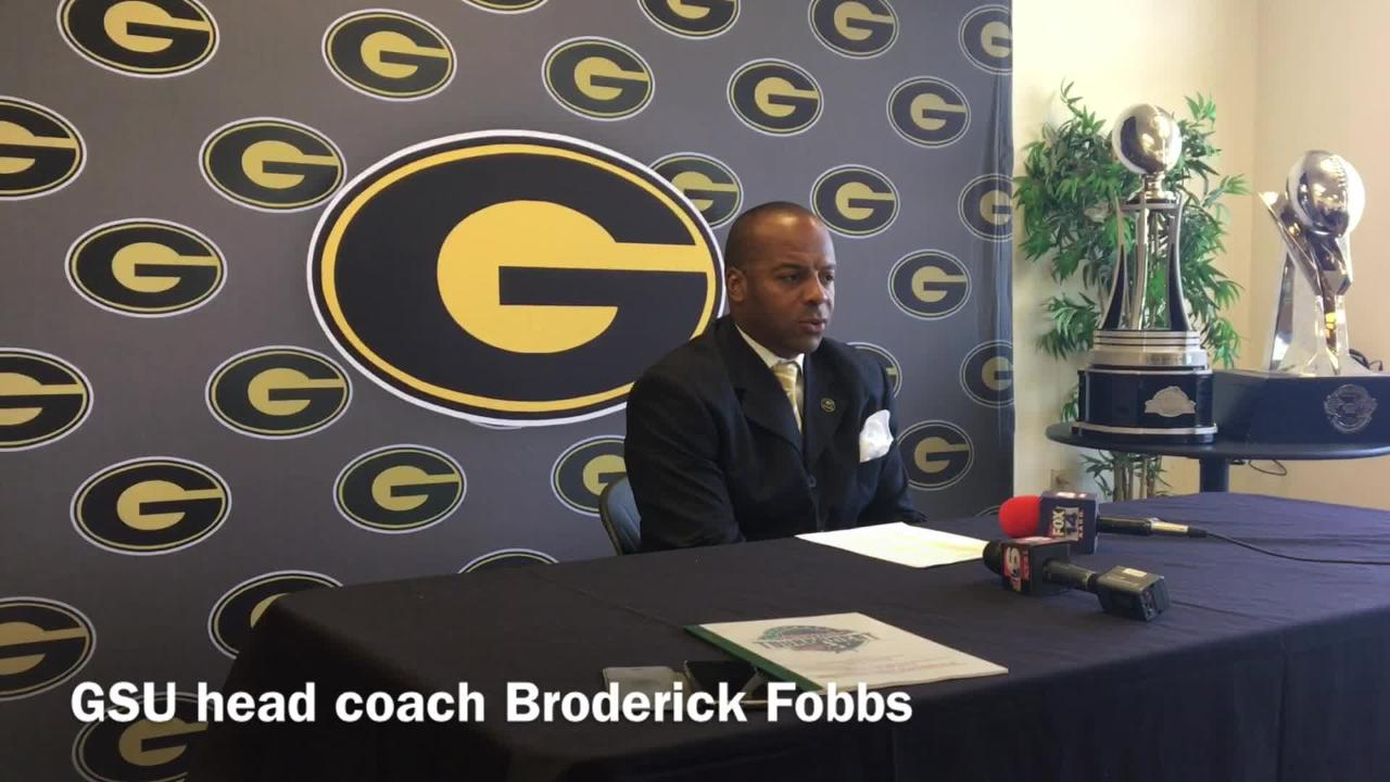 Grambling State head coach Broderick Fobbs and quarterbacks coach Kendrick Nord talk how the offensive line has progressed and the challenges Jackson State's defense presents.