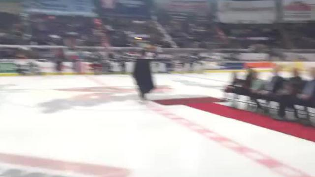 Former Mudbugs star Dan Wildfong, now the coach of Lone Star, had his No. 10 retired Friday night on George's Pond at Hirsch Coliseum.