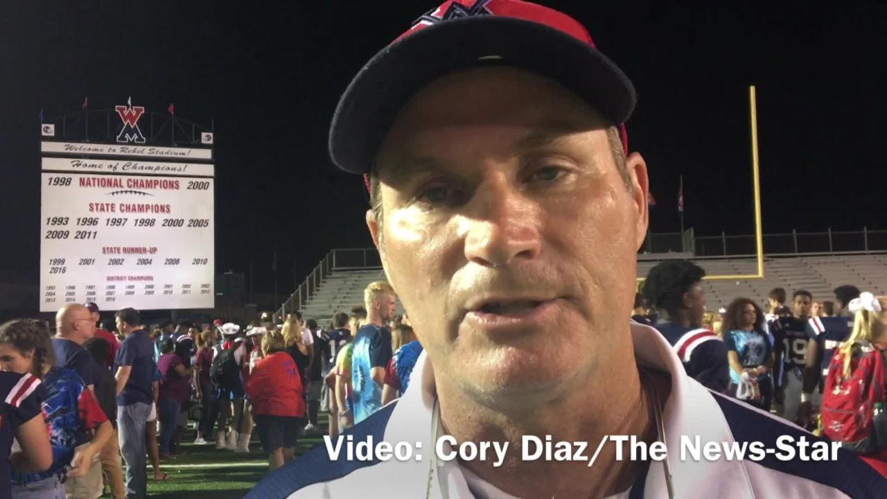 West Monroe interim head coach Tony Osborne liked the way his defense started the game Friday versus Wossman.