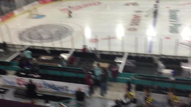 After several seconds of awkward silence prior to a hockey game in Shreveport between Texas A&M and East Texas Baptist University on Friday, fans, players and officials belted out the national anthem.
