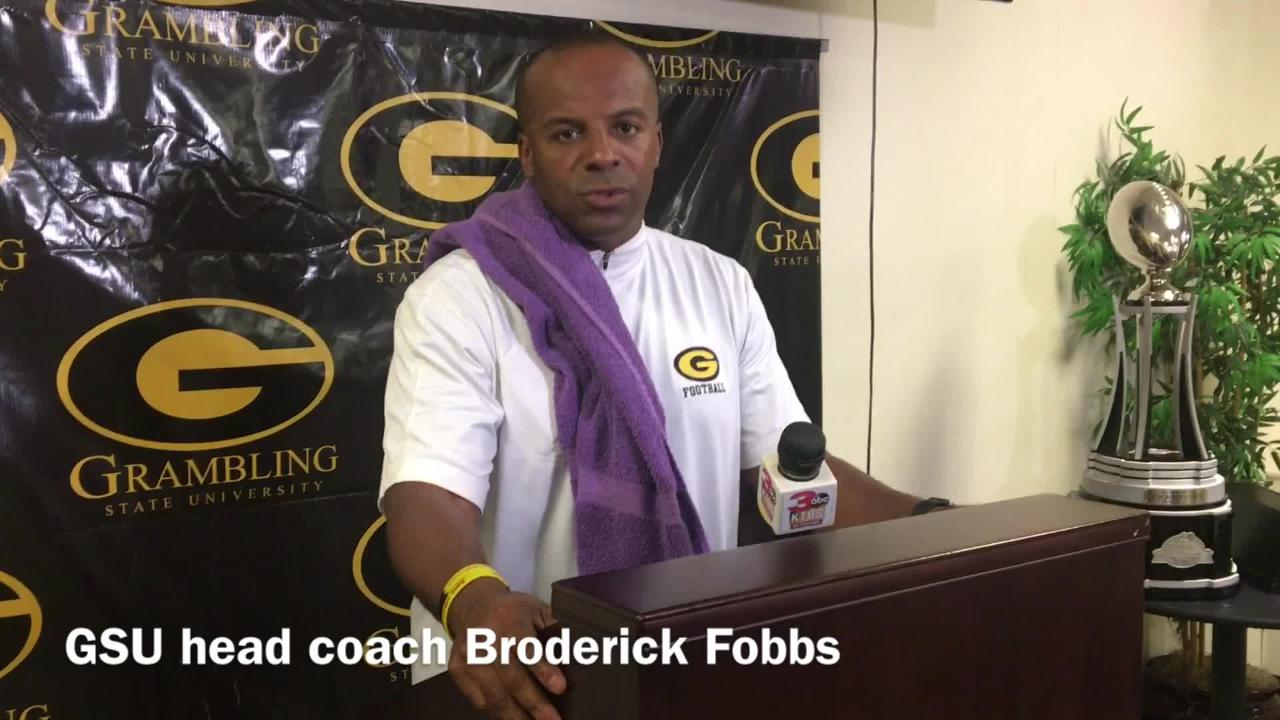 Grambling State head football coach Broderick Fobbs dissects the defense's solid performance in the fourth quarter against Jackson State.