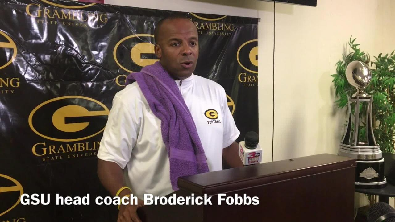 Grambling State head football coach Broderick Fobbs discusses how past big games helps his team know how to close out tight ballgames.
