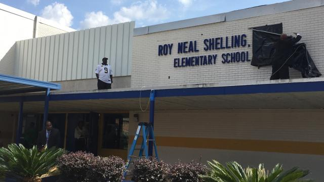 On Sunday afternoon, Lincoln Elementary School was renamed to honor the late Roy N. Shelling Sr. Shelling served as principal there during his long academic career.