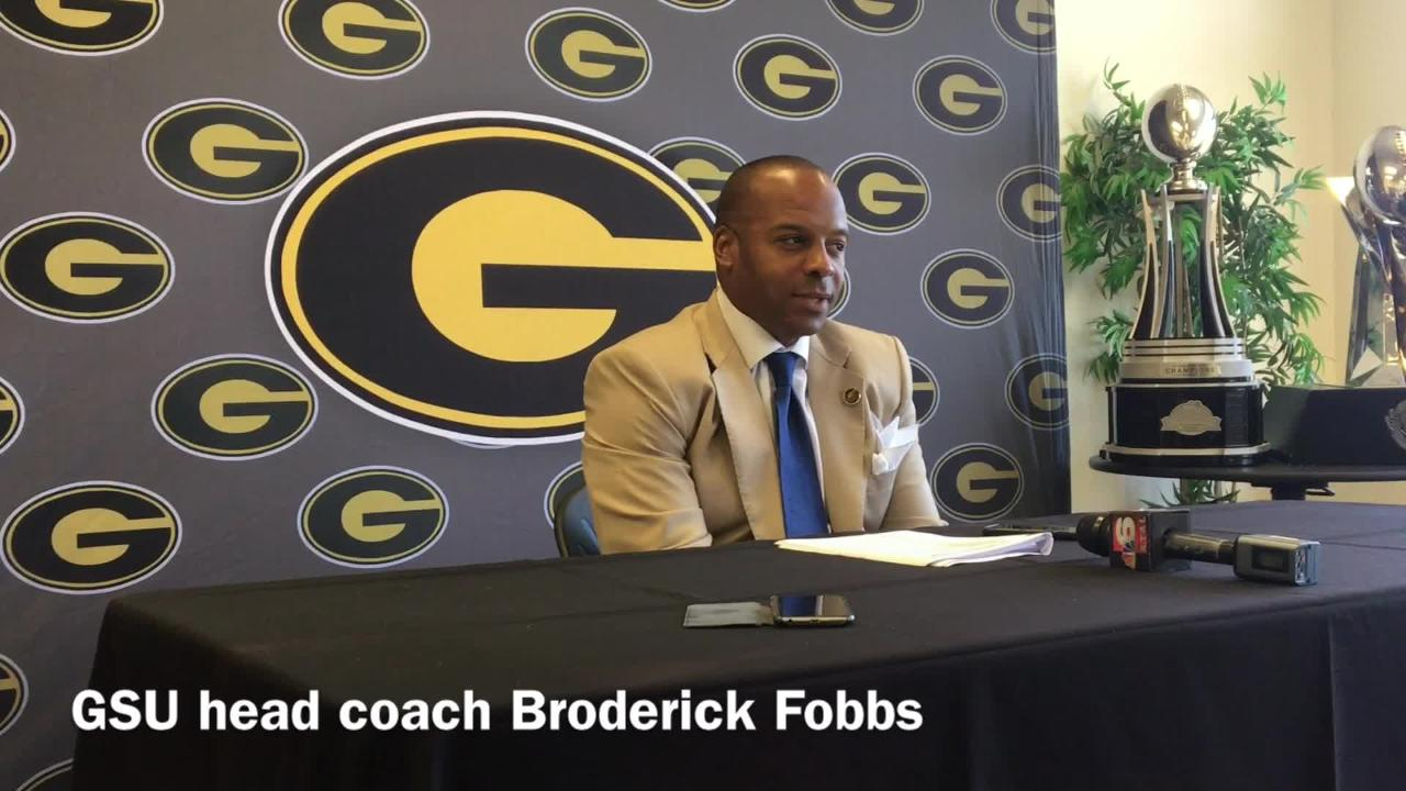Grambling State head football coach Broderick Fobbs was impressed with his defense's performance against Jackson State Saturday.