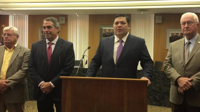 At a Monday (Sept. 18, 2017) press conference in Alexandria, partners with the Laborde Earles law firm announced lawsuits filed on behalf of the Avoyelles and Rapides parish sheriffs offices against companies and individuals in the opioid crisis.