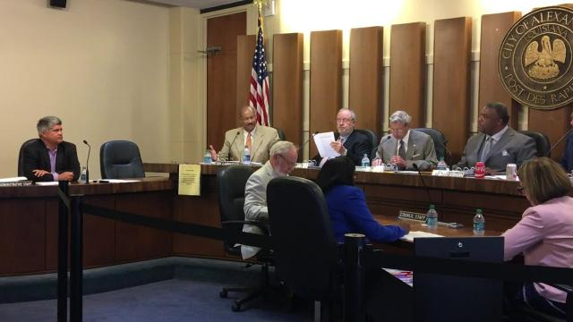 """When two items were pulled from an Alexandria City Council committee Tuesday (Sept. 19, 2017), things got heated. Councilman Ed Larvadain, who had urged residents at the meeting to sign up to speak """"on the importance of the North 16th Street Bridge"""" and """"to hear a report from the administration on crime statistics,"""" swore. What followed was about 20 minutes of the council members and Mayor Jacques Roy exchanging words about proper procedure that showed the rift between factions on the council."""