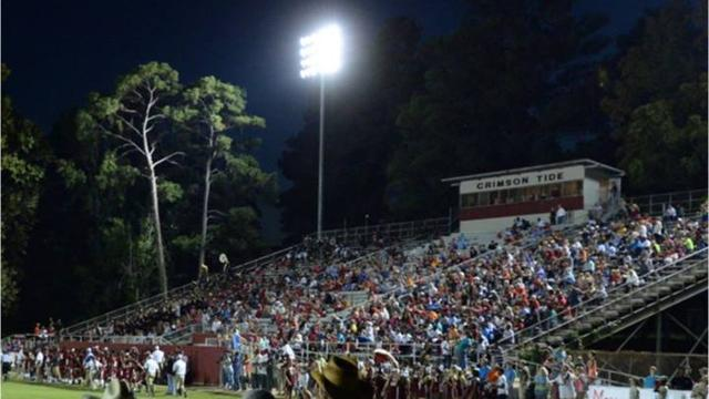 """Friday, 17 months after the home side of Minden's football stadium was condemned, the Crimson Tide will show off a new-and-improved version of """"The Pit."""""""
