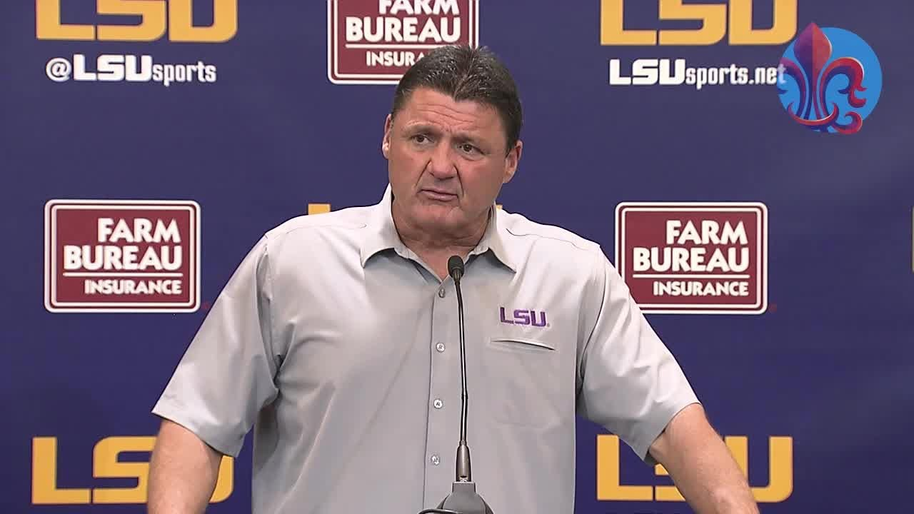 Here's the full press conference where Coach Orgeron discussed what went wrong in the LSU vs. Mississippi State loss.