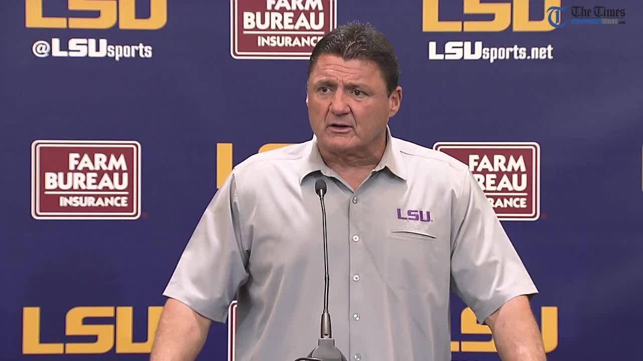 Here's a look at Coach Ed Orgeron's entire press conference following LSU's loss to Mississippi State.