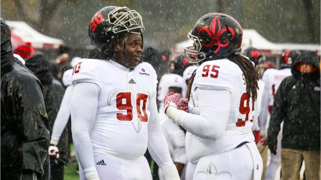 UL senior defensive lineman Kevon Perry has gone from the Northeast to the West Coast to Cajun country to pursue his college football career