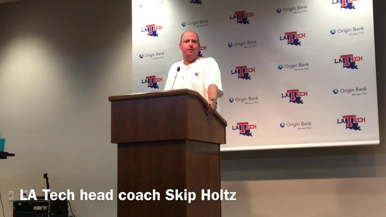 Louisiana Tech head football coach Skip Holtz talks about what he's looking forward to in his first trip back to South Carolina.