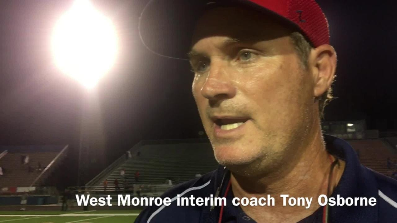 West Monroe interim head football coach Tony Osborne discusses how the team's run game powered them to a win over Noxubee County.