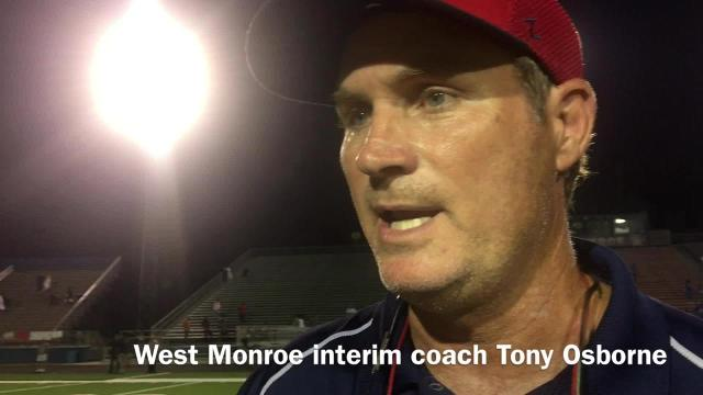 Osborne discusses West Monroe's powerful run game