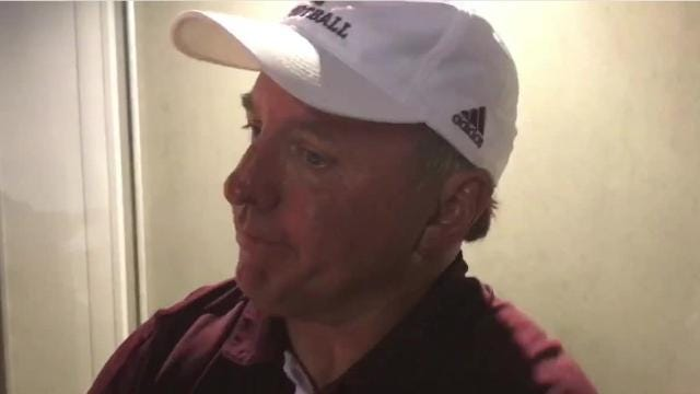 ULM celebrated its first win over UL Lafayette since 2013 in the locker room.