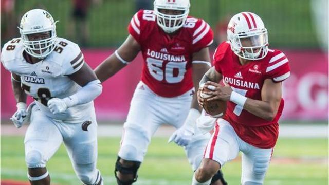 Ragin' Cajuns backup quarterback Andre Nunez stepped in for still-injured Jordan Davis for most of UL's 56-50 double-overtime loss to UL Monroe on Saturday night. Davis is dealing with a knee injury sustained at Texas A&M.