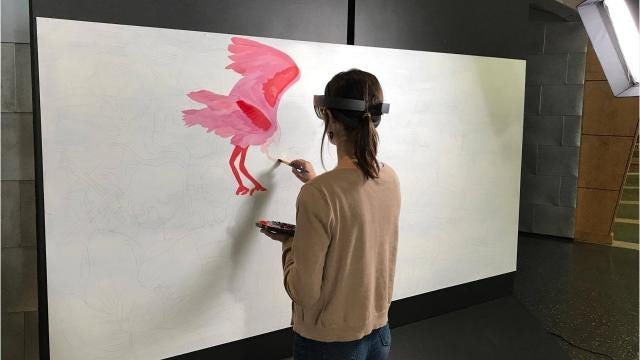 Lafayette, Norwegian artists collaborate on mural using Microsoft HoloLens