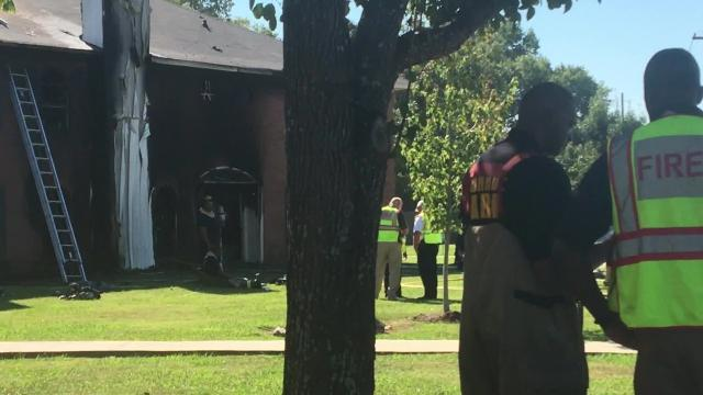 Footage from fire scene in River Oaks neighborhood