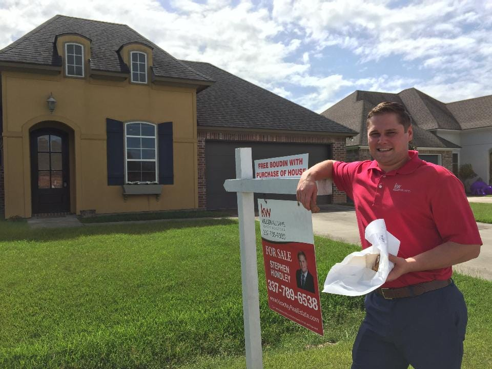 Real estate agent Stephen Hundley recently offered free boudin with the purchase of a home in Scott, Louisiana. Here's why.