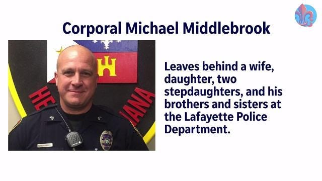 Funeral procession for Lafayette Police Cpl. Middlebrook