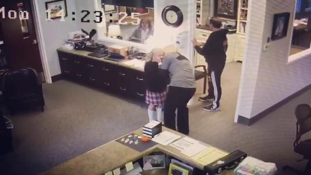 Tannah Butterfield, 11, finds out she's being adopted by her foster parents - and school cameras capture her priceless reaction.