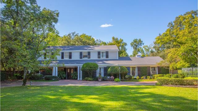 A Colonial Revival home stands at 2311 Pargoud Avenue in Monroe and has 10 foot ceilings.