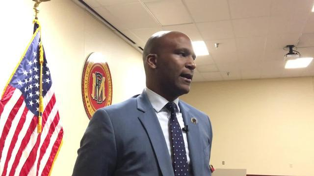Reggie Brown talkss Metro Narcotics following Civil Service Board meeting