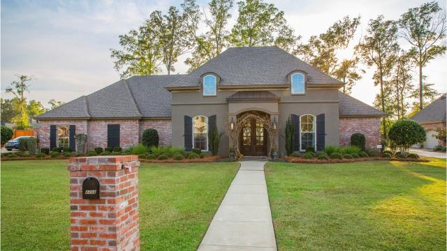 The 4 bedroom home at 4201 Adeline Lane in Monroe is located in the Belle Pointe neighborhood and within walking distance of the Monroe Athletic Club.