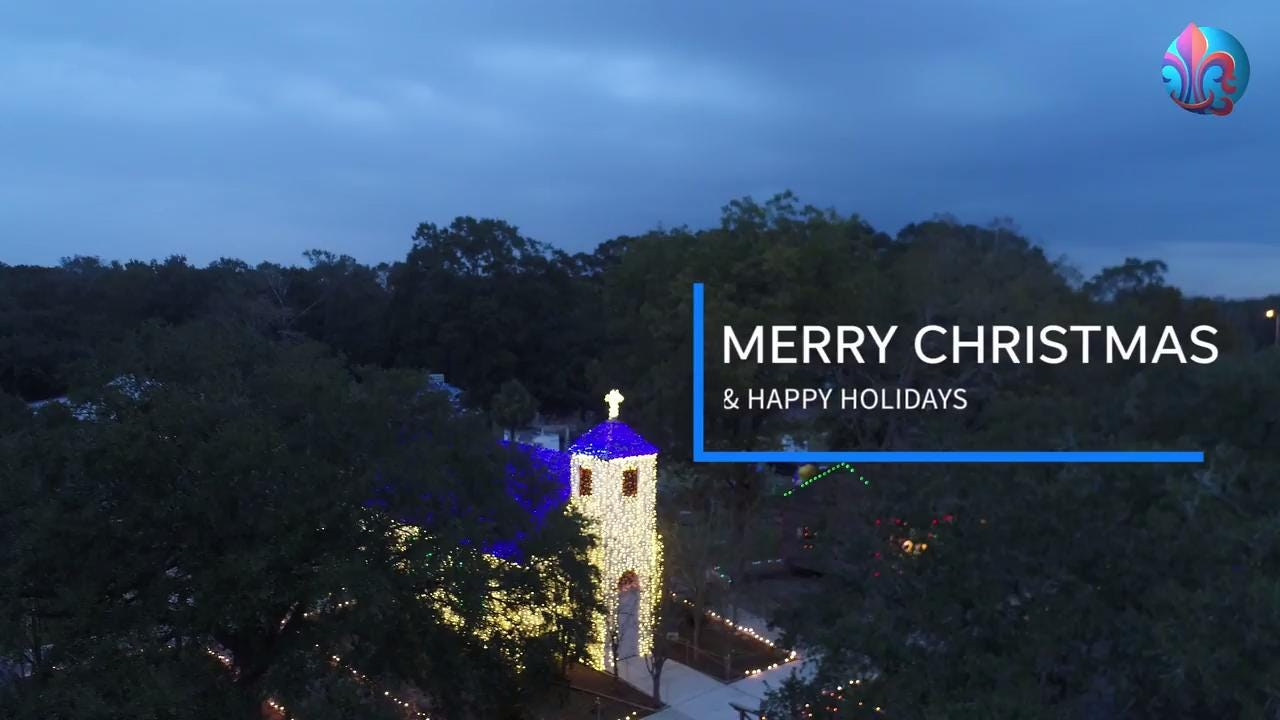 Exclusive drone footage: first look at Acadian Village lights