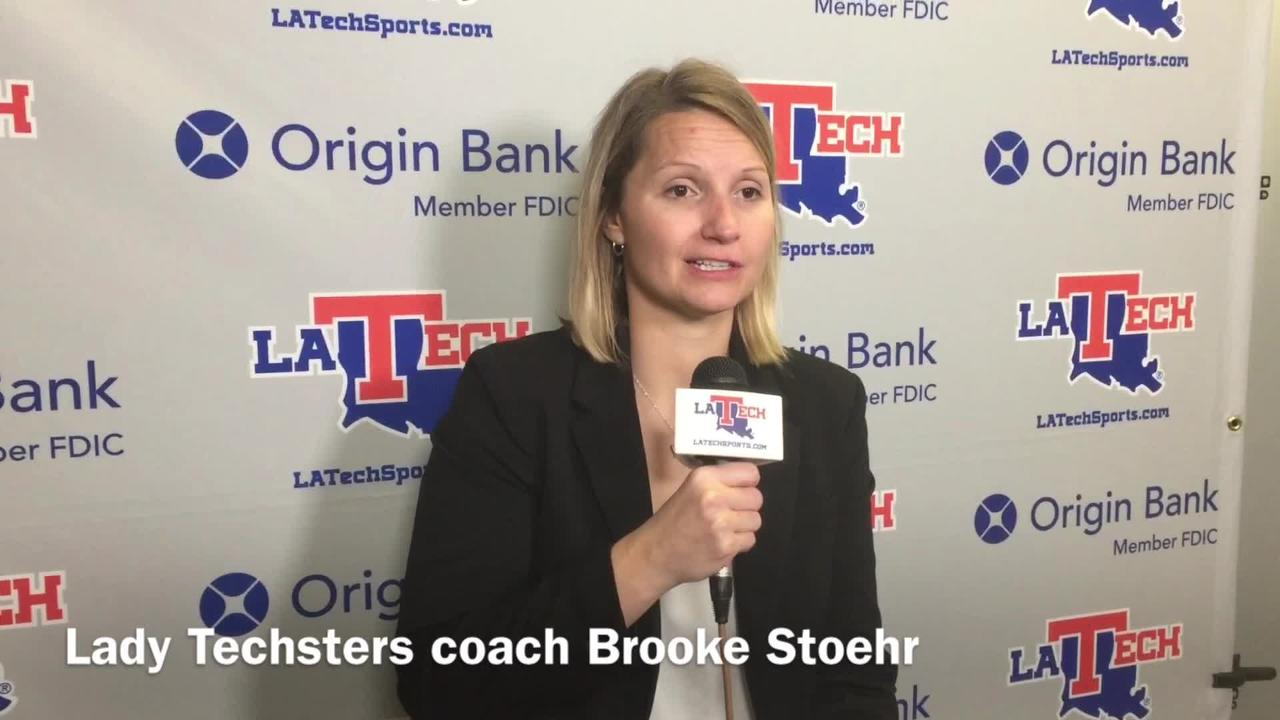 Louisiana Tech women's basketball coach Brooke Stoehr outlines her squad matching up with Power 5 teams.
