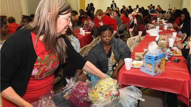 Christmas party for the Opelousas Cerebral Palsy Clinic