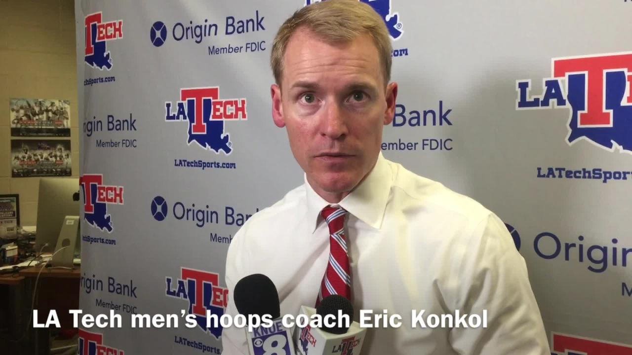 Louisiana Tech head men's basketball coach Eric Konkol discusses the Bulldogs still searching for a key, non-conference win after Stephen F. Austin loss.