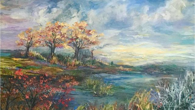 "Susan Duke sells original paintings at low prices to pay for cancer treatment and expenses. Duke's exhibition, ""The Colors of My Life,"" will run through Jan. 20 at Central ARTSTATION, 801 Crockett St. in downtown Shreveport."