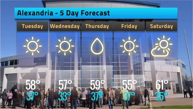 Alexandria Forecast for Monday, Dec. 11, 2017