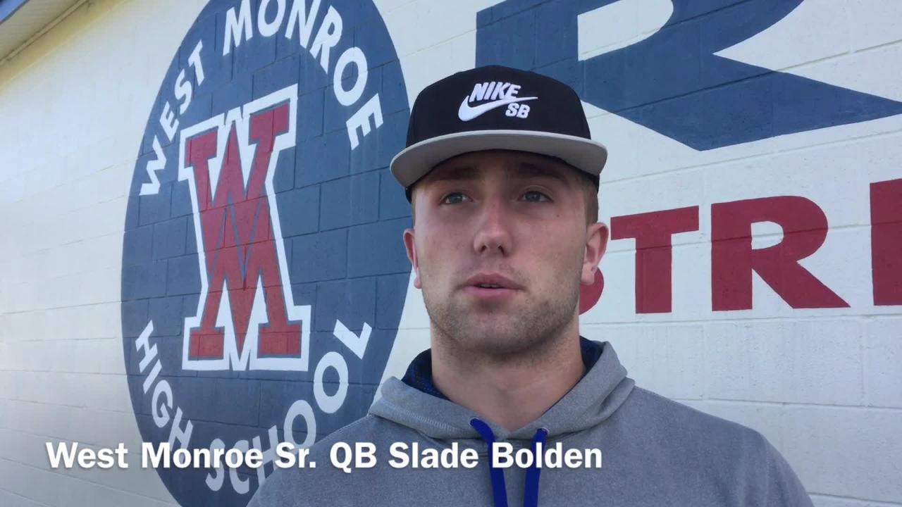 West Monroe senior quarterback and Alabama commit Slade Bolden shares his mindset on why he wants the ball in his hands.