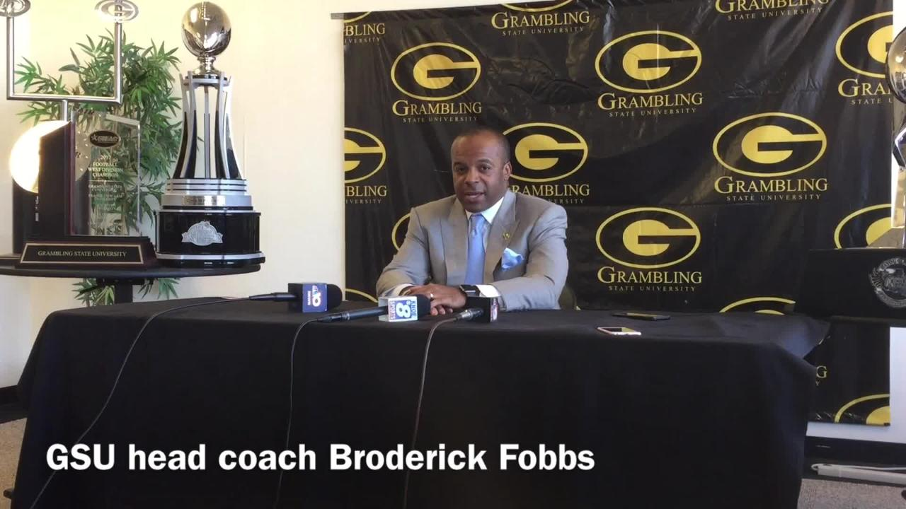 Grambling State head football coach Broderick Fobbs discusses how similar his football program and North Carolina A&T's program is.