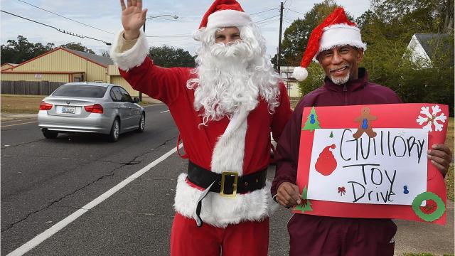 Elbert Guillory and Family toy drive