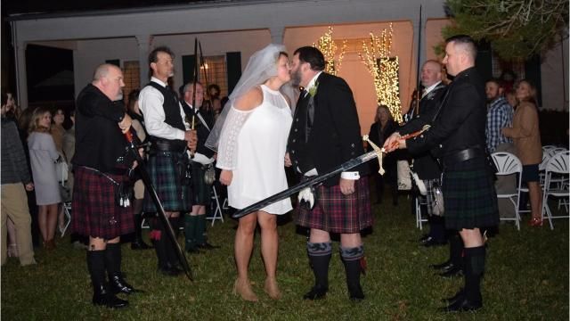 Scottish group brings couple together in matrimony