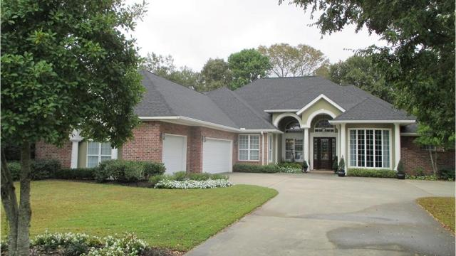 This home at 26 Waters Edge has one of the largest backyards inNorth Pointe Subdivisionandbacks up to woods.