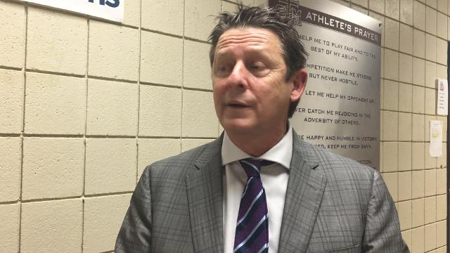 St. Thomas More boys basketball coach Danny Broussard discusses the Cougars' performance in their game against Ridgeland High.