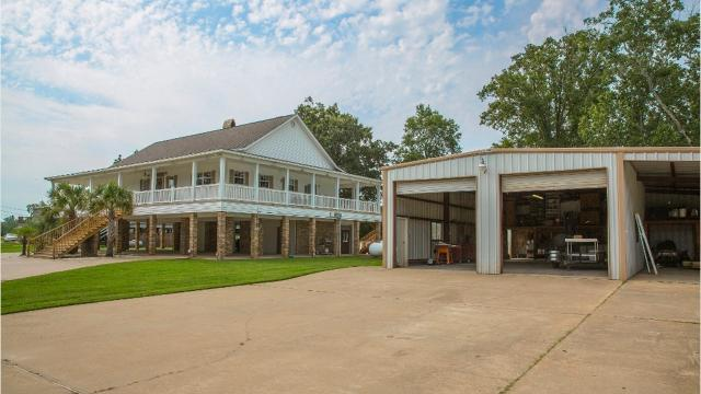 Located on Bayou Darbonne next to the old Joe Bob's, this custom home has over 200' of bayou frontage and is less than a mile by water to the Ouachita River.