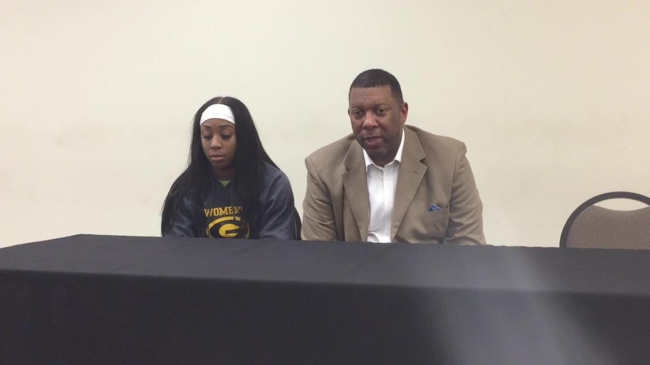 Grambling State women's basketball coach Freddie Murray discusses how junior point guard Shakyla Hill was able to amass a quadruple-double.