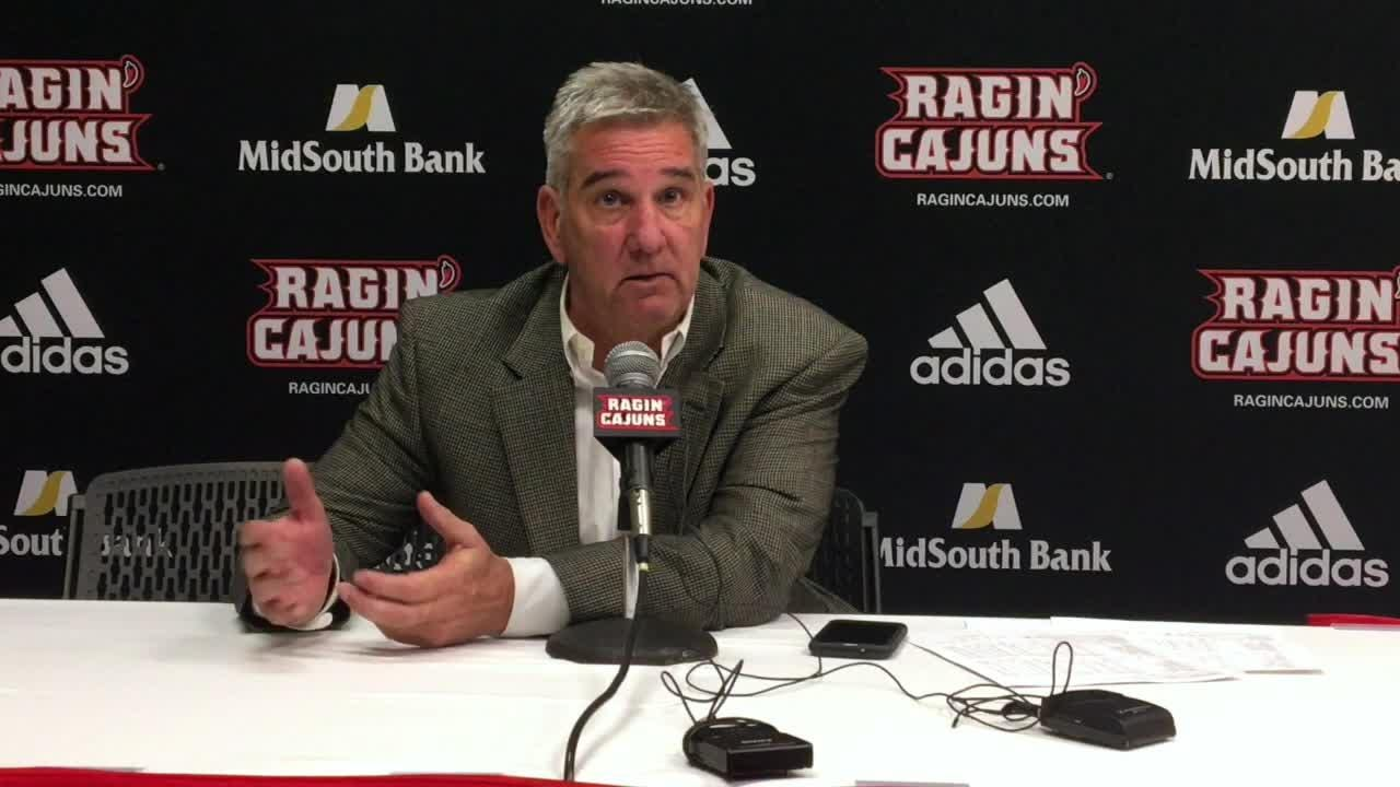 UL women's basketball coach Garry Brodhead discusses what it took to earn his 100th win with the Ragin' Cajuns following their victory over Coastal Carolina.