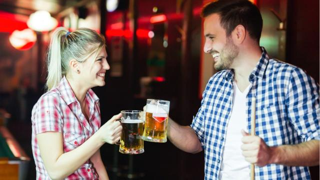 A scientific study claims that a man's smell contributes to a woman's desire to drink more.