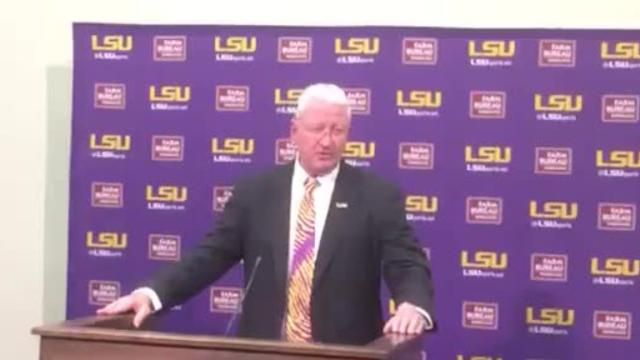 Steve Ensminger lost it as he discussed LSU playing days