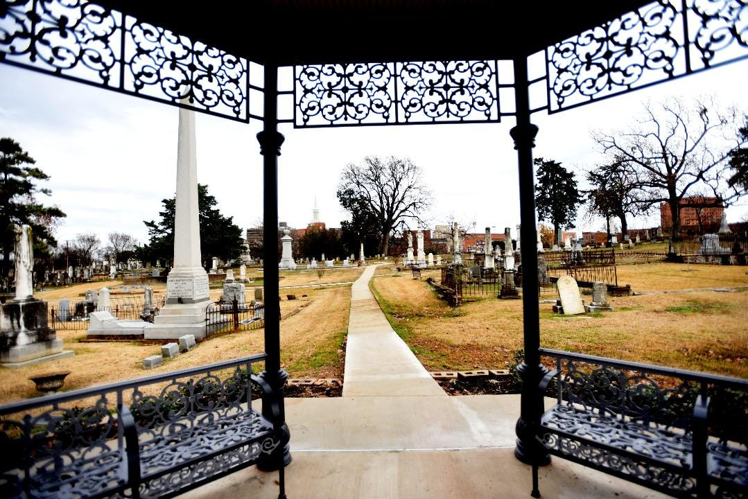 The recently built Gazebo at Oakland Cemetery by the Alta and John Foundation