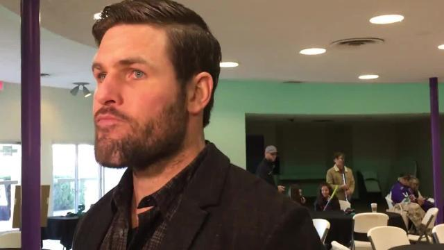 Video: Ex-NHL star Mike Fisher encourages local athletes to embrace faith