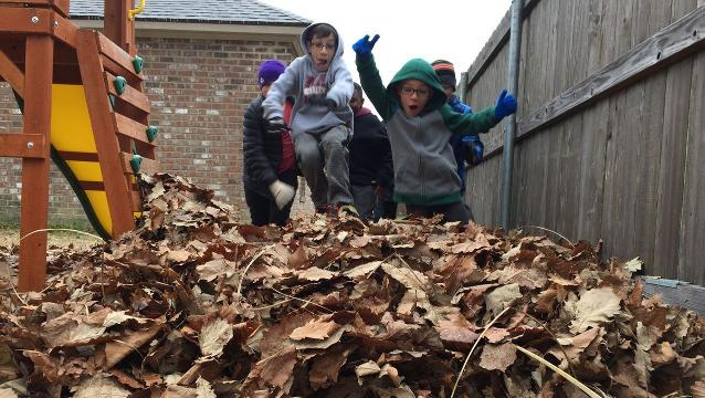 A mix of freezing rain, sleet and snow canceled school Tuesday for these Milton Elementary students. Although they couldn't gather enough frozen precipitation to make a snowman, they found other ways to have fun outside on their day off.