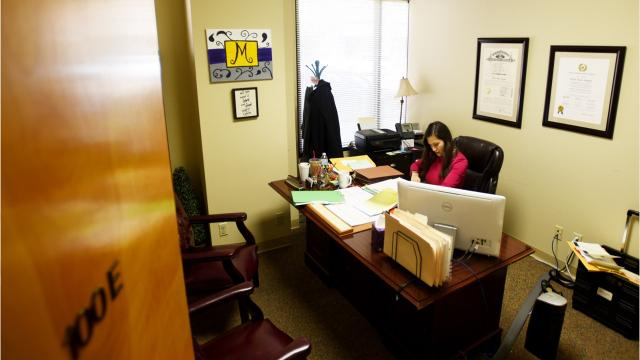 A local domestic violence support program pairs victims with legal representation and helps them file protective orders for reimbursable fee.