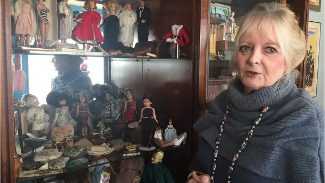 Kerry Murphy has 500 dolls on display in her home to benefit Operation Bandanas.